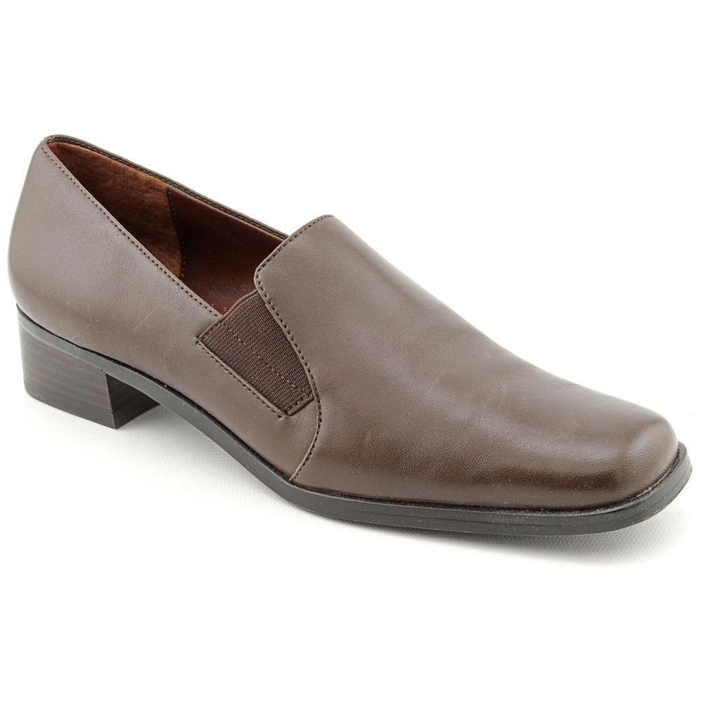 Trotters Ash Women Square Toe Leather Brown Loafer by Trotters