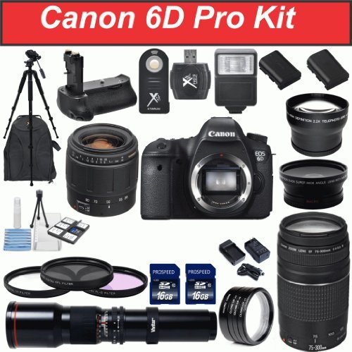 Canon EOS 6D Digital SLR Camera Body with Tamron 28-80mm ...