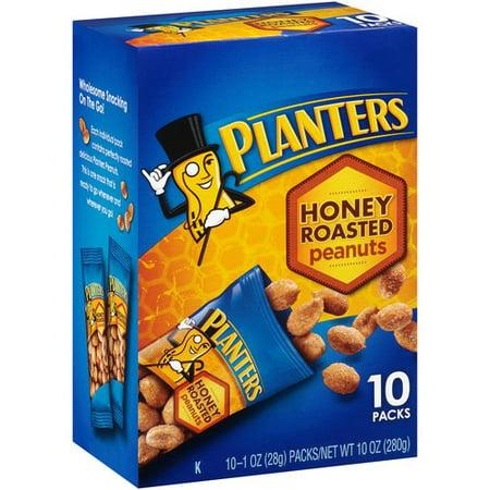 Planters Honey Roasted Peanuts 1 Oz 10 Count Walmart Com