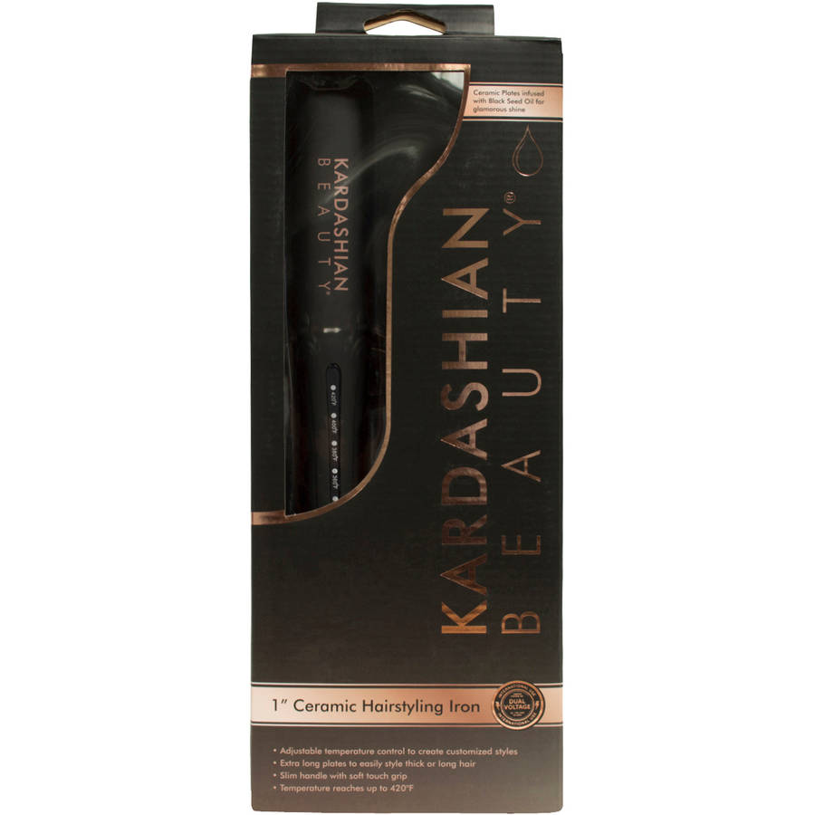 "Hair Styling Iron Stunning Kardashian Beauty 1"" Ceramic Hairstyling Iron  Walmart"