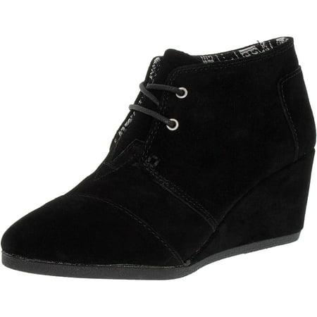 b4c81006018 Toms Women s Desert Wedge Boot Ankle-High Suede Boot - Walmart.com