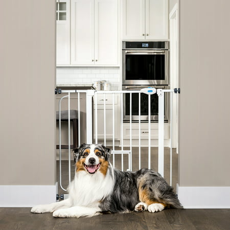 Carlson Extra Wide Walk Through Dog Gate with Door, Pressure Mount Kit & Wall Mount Kit Duragate Pet Gate