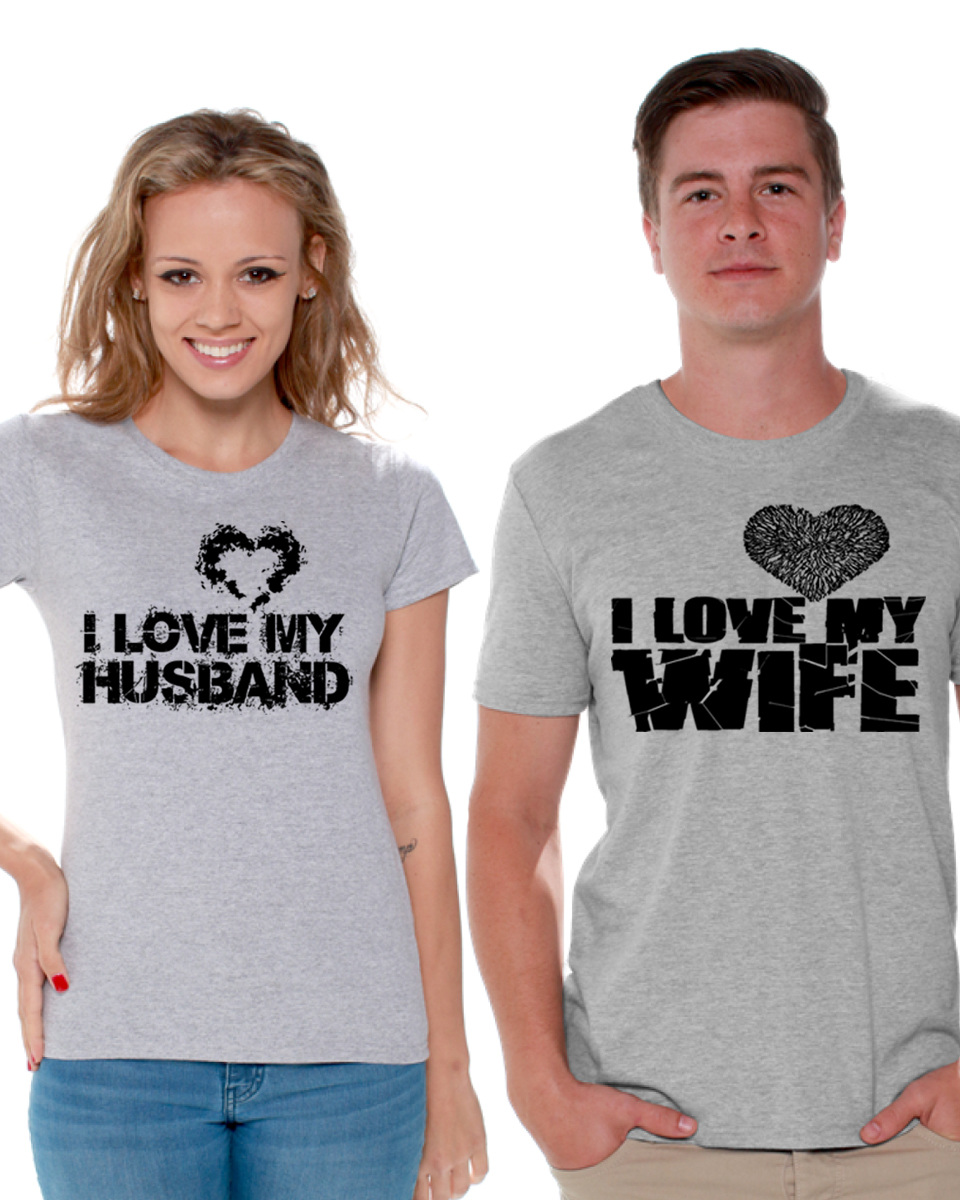 Matching Couples Gift for Valentine Hoodie Married Couple I Love My Crazy Wife