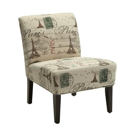 ACME Reuben Accent Chair, Fabric & Espresso