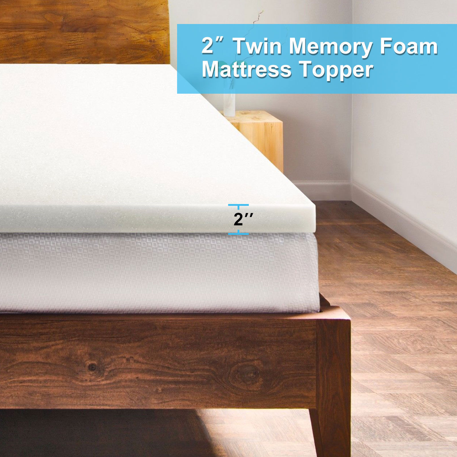 Twin Mattress Vs Single: Zimtown 2 Inch Twin Size Memory Foam Mattress Single Layer