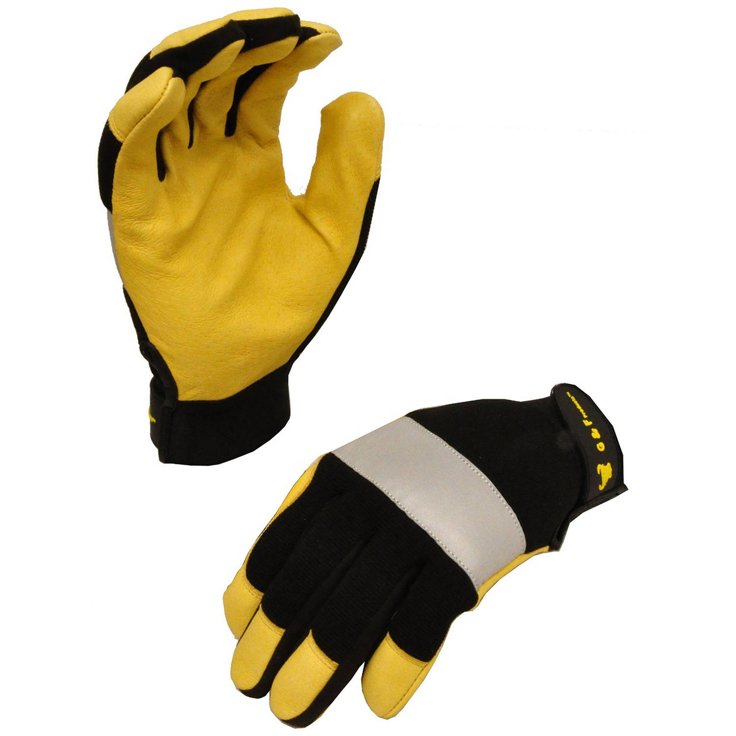 G & F Dark Owl High-Visibility Reflective Performance Gloves Size, Large