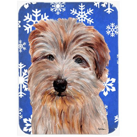 Norfolk Terrier Winter Snowflakes Mouse Pad, Hot Pad or Trivet SC9784MP