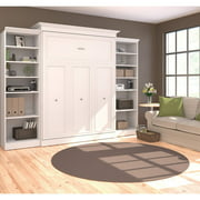 Bestar Versatile by Bestar 115'' Queen Wall Bed Kit with Open Storage in White