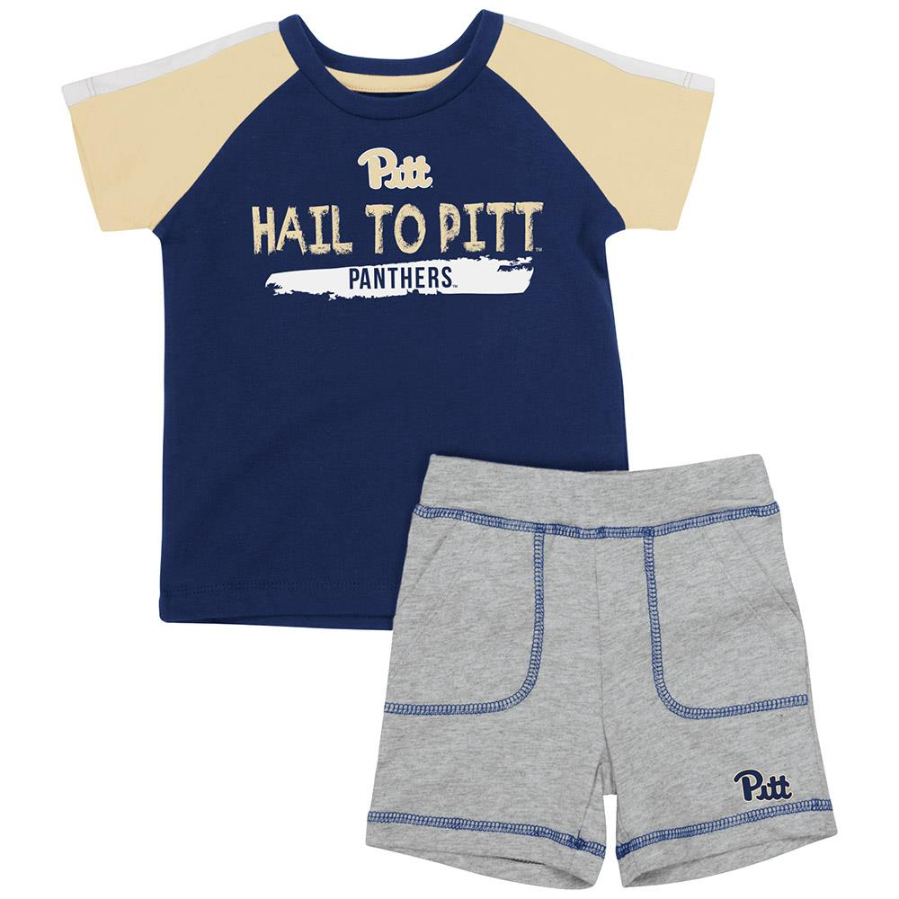 Infant Pittsburgh Panthers Tee Shirt and Shorts Set - 3 to 6 Months