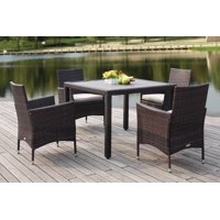 Safavieh Frazier Outdoor Modern Wicker 5 Piece Set with Cushion