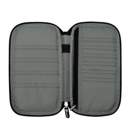Family Travel Wallet Passport Holder, Fintie RFID Blocking Document Organizer Bag Case w/ Hand Strap Emerald Illusions - image 1 of 7