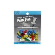 Moore Push Pin Plastic Head 20pc Astd Regular
