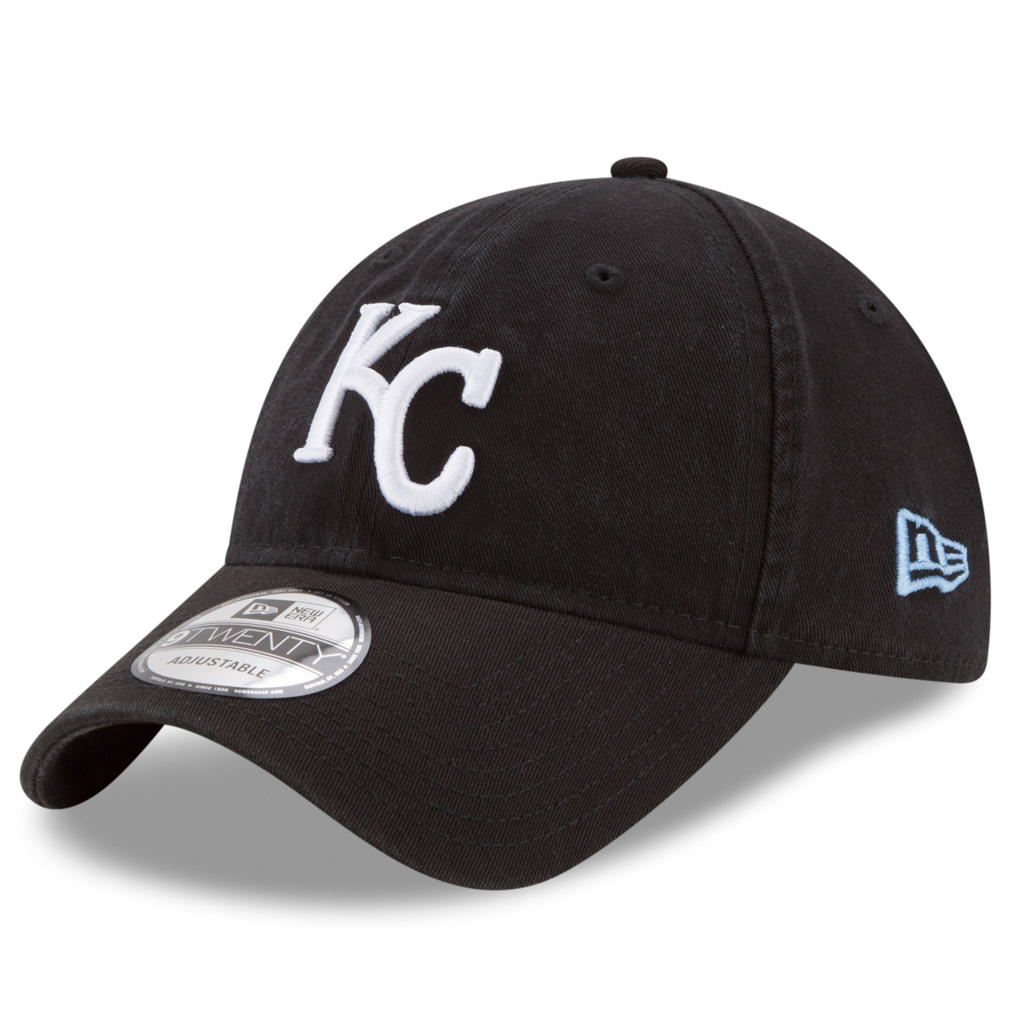 Kansas City Royals New Era Core Classic 9TWENTY Adjustable Hat - Black - OSFA