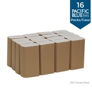Georgia Pacific Professional Pacific Blue Basic Folded Paper Towel, 9 1/4 x 9 1/2, White, 250/Pack, 16 PK/CT -GPC20204