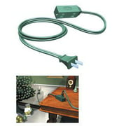 15' Westinghouse Green 3-Outlet Indoor Extension Power Cord with Safety Covers