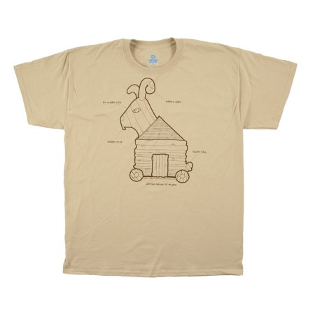 9aa3d9047 Liquid Blue - Monty Python and the Holy Grail Rabbit Plans Mens T-Shirt -  Walmart.com