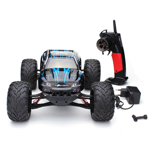 Mohoo High Speed 30MPH 1/12 RTR 2.4GHz 2WD Remote Control Brushed Monster Truck Big Foot RC,Blue color