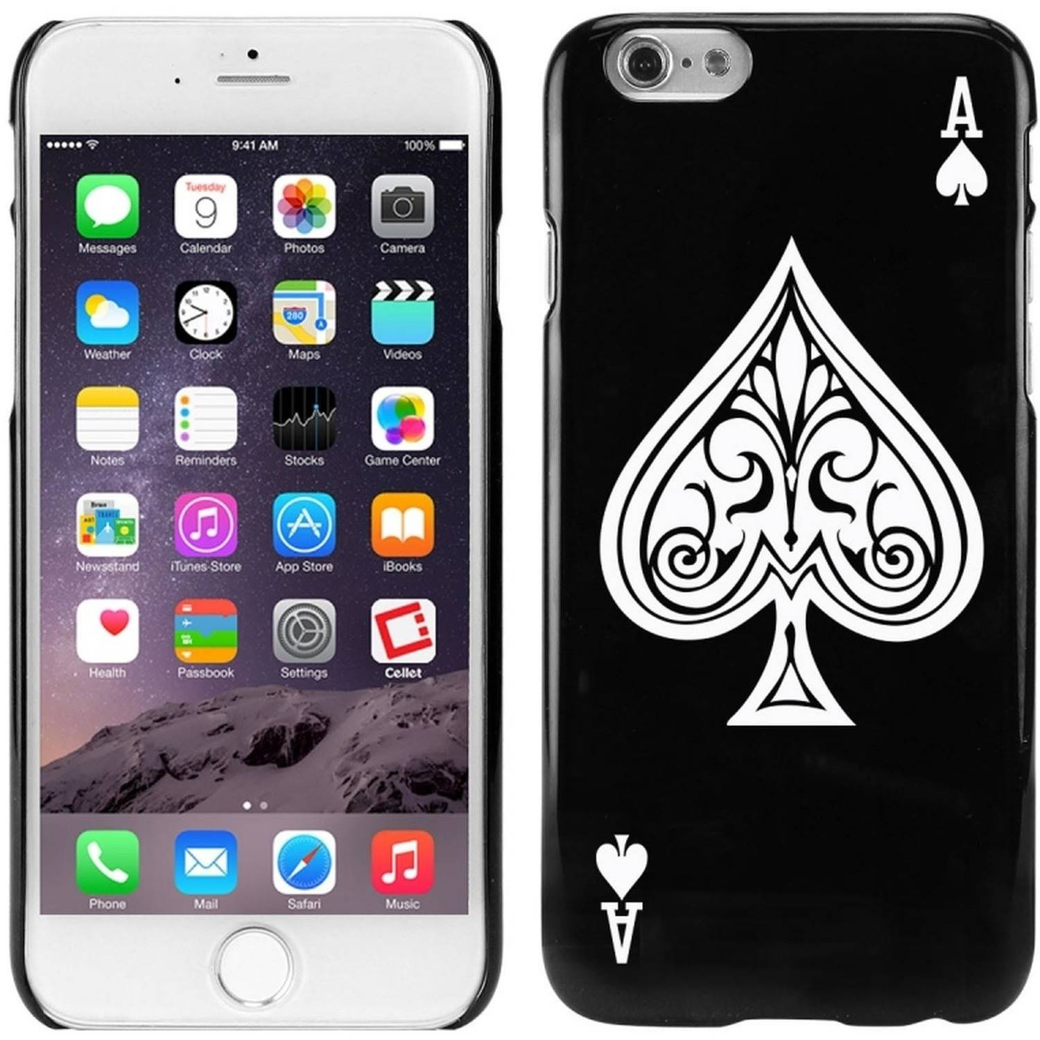 Cellet TPU/PC Proguard Case with Ace of Spades for Apple iPhone 6/6s