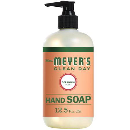 (3 Pack) Mrs. Meyer's Clean Day Liquid Hand Soap, Geranium, 12.5 Oz - Geranium Hand Wash