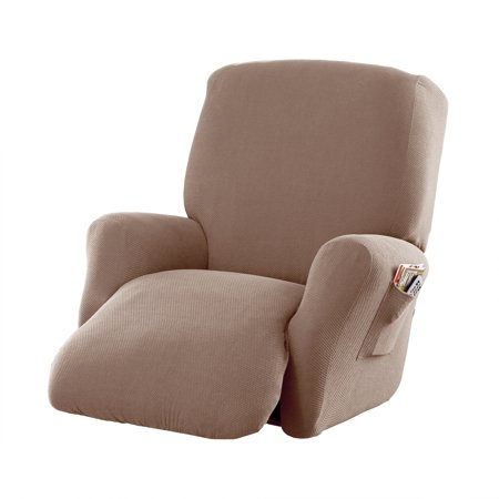 Mainstays Stretch Pixel 4 Piece Recliner Chair Furniture Slipcover