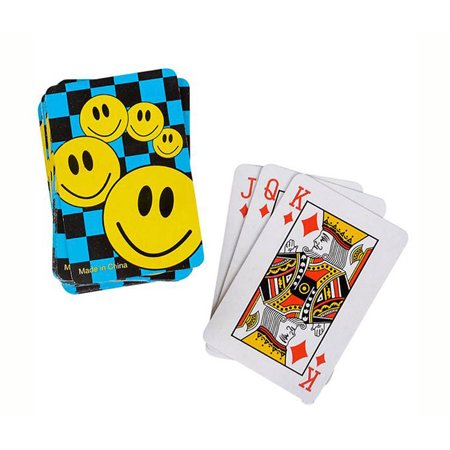 Sport Gaming Set Mini Smile Face Playing Cards 12 Decks (Mini Playing Cards)