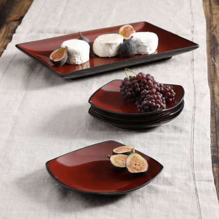 Gibson Home Soho Lounge 5-Piece Rectangular Serving Plate Set