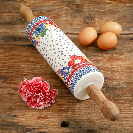 "The Pioneer Woman 18.4"" Dazzling Dahlias Rolling Pin"