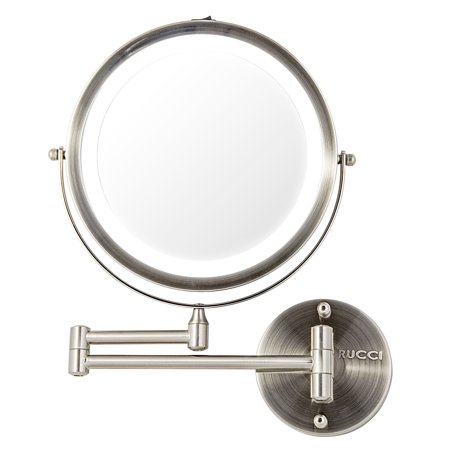 7 Wall Mounted Led Lighted Makeup Mirror 10x 1x