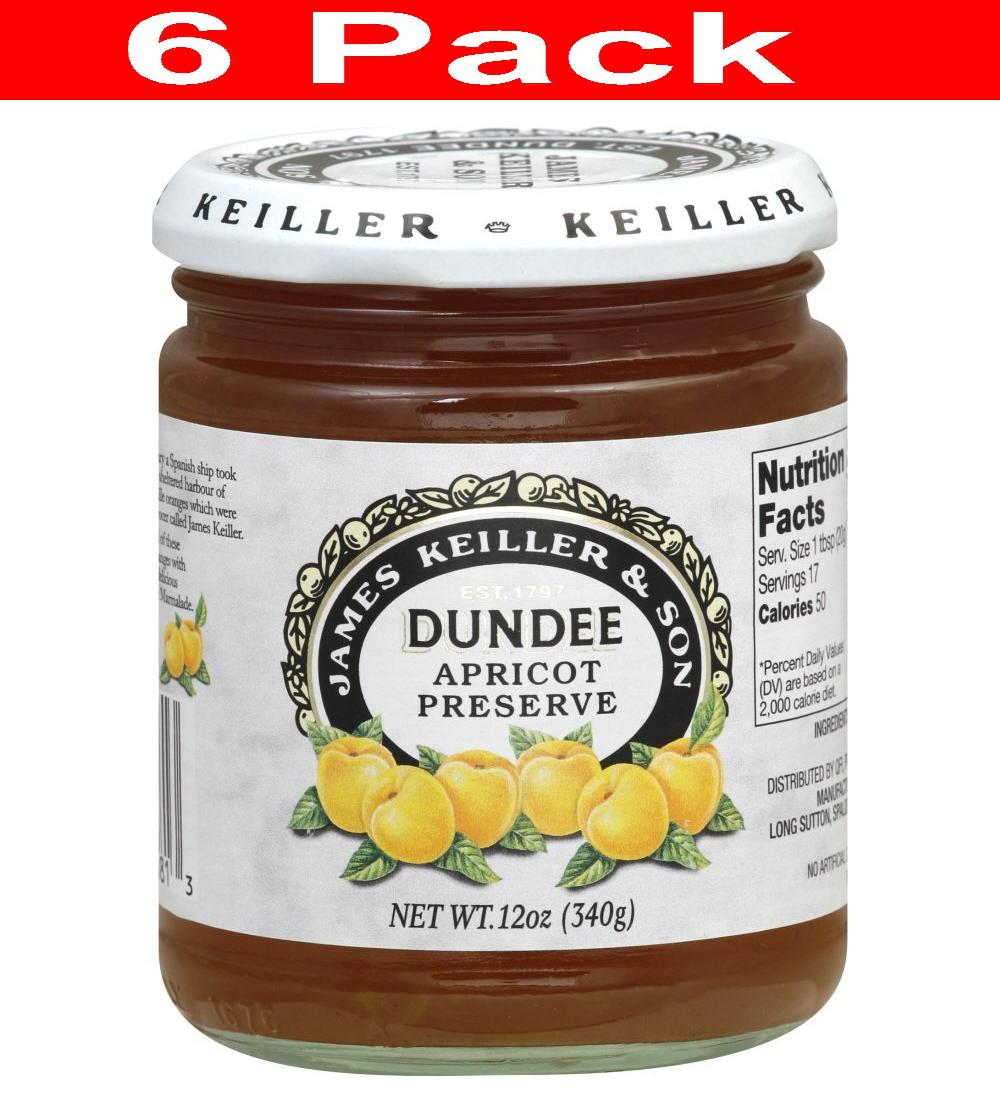 Keiller-Dundee Preserves Apricot 12 Oz (Pack of 6)