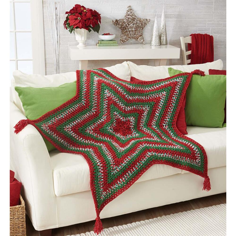 Herrschners  Christmas Star Crochet Afghan Kit