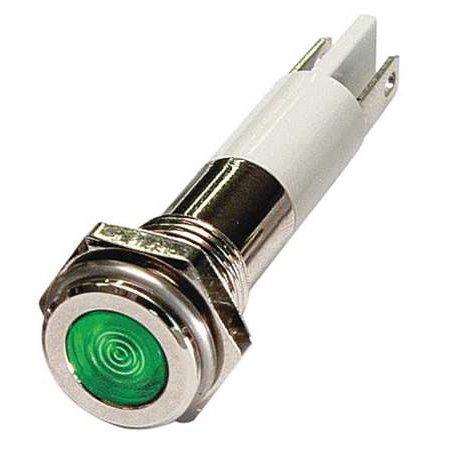 24M072 Green Flat Indicator Light, 120VAC - Green Flats