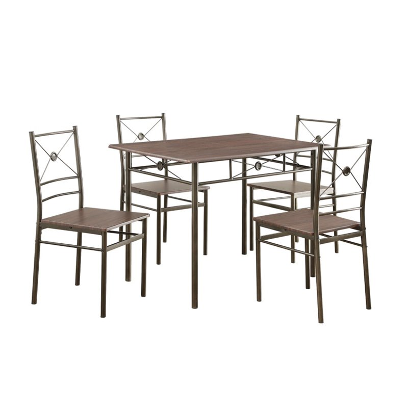 Coaster 5 Piece Dining Set in Walnut