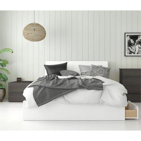 nexera icon platform storage bed with nightstand. Black Bedroom Furniture Sets. Home Design Ideas