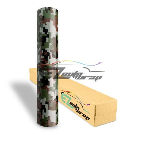 EZAUTOWRAP Digital Camo Camouflage Car Vinyl Wrap Vehicle Sticker Decal Film Sheet Furniture Cabinet Decoration Peel And Stick