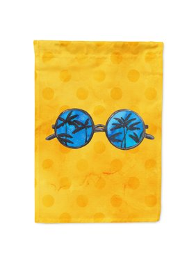 Sunglasses Yellow Polkadot Garden Flag