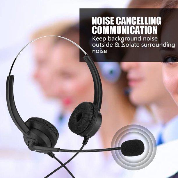 Mgaxyff Call Center Headphones Cordless Phone Headset Lossless Sound Call Center Headphones 360 Rotary Earmuffs Call Center Headset Walmart Com Walmart Com