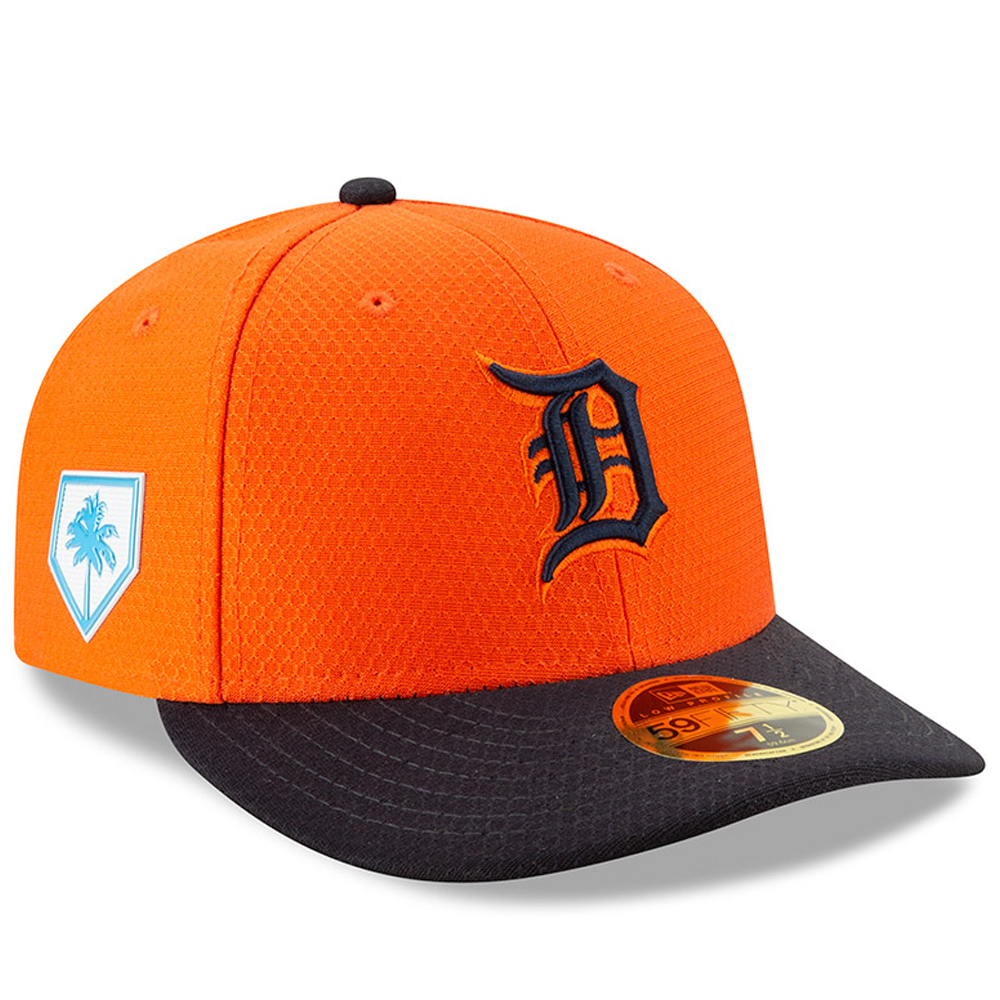 Detroit Tigers New Era 2019 Spring Training Low Profile 59FIFTY Fitted Hat - Orange/Navy
