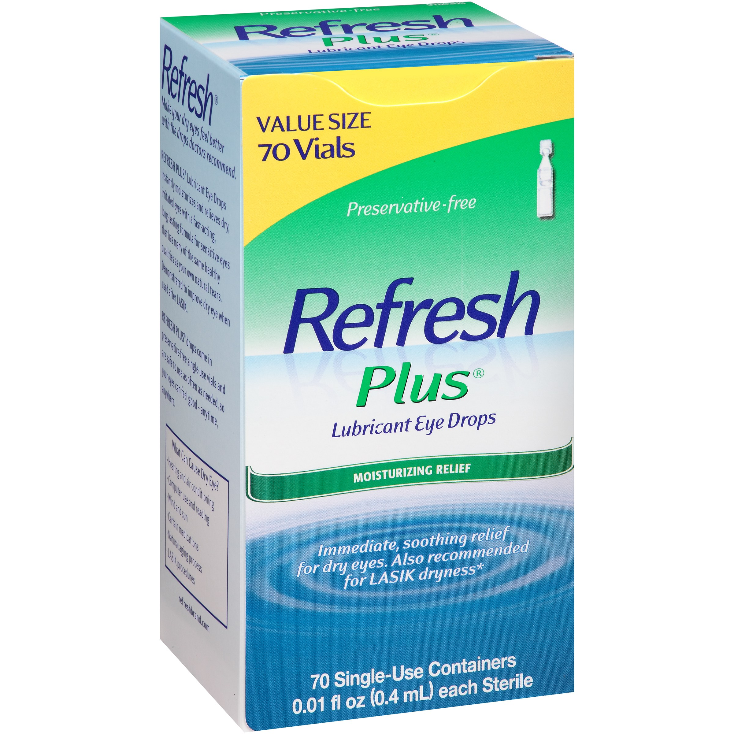 Refresh Plus Lubricant Eye Drops Value Size, 70 count, 0.01 fl oz