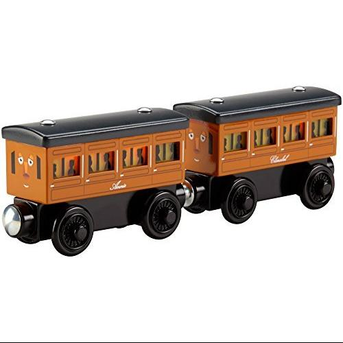 Fisher-Price Thomas the Train Wooden Railway Light-Up Reveal Annie & Clarabel