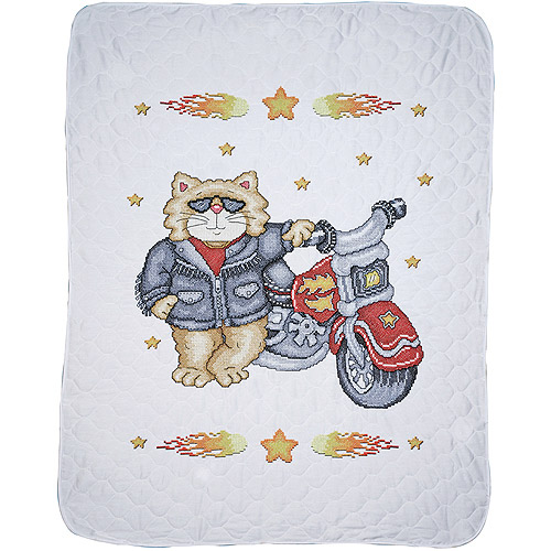 "Born To Be Wild Baby Quilt Stamped Cross Stitch Kit, 34"" x 43"""