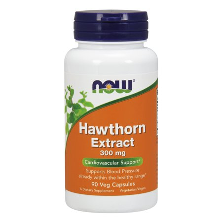 NOW Supplements, Hawthorn Extract 300 mg, 90 Veg Capsules