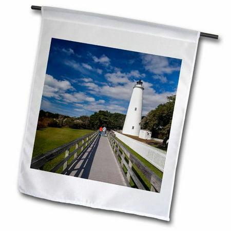3dRose North Carolina, Cape Hatteras, Ocracoke Lighthouse Polyester 1