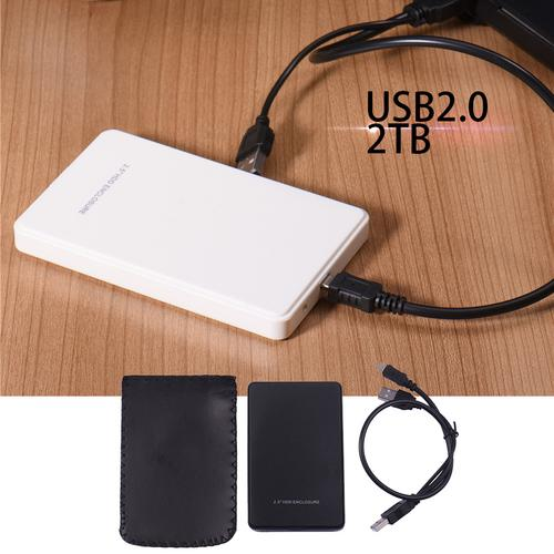 USB 2.0 2TB HDD Enclosure for 2.5 Inch External SATA Hard Disk Drive SSD Case