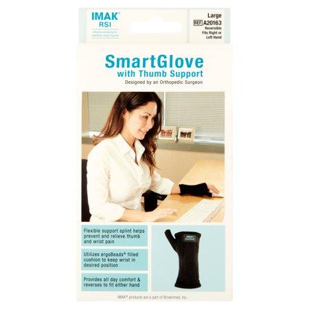 Imak Large SmartGlove with Thumb Support - Imak Ergobeads Mouse Wrist Support