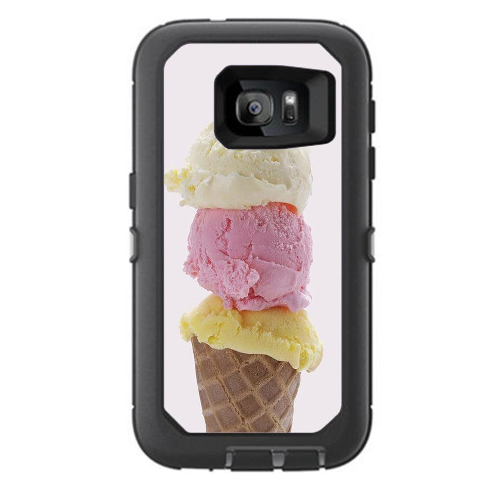 Skins Decals For Otterbox Defender Samsung Galaxy S7 Case / Ice Cream Cone