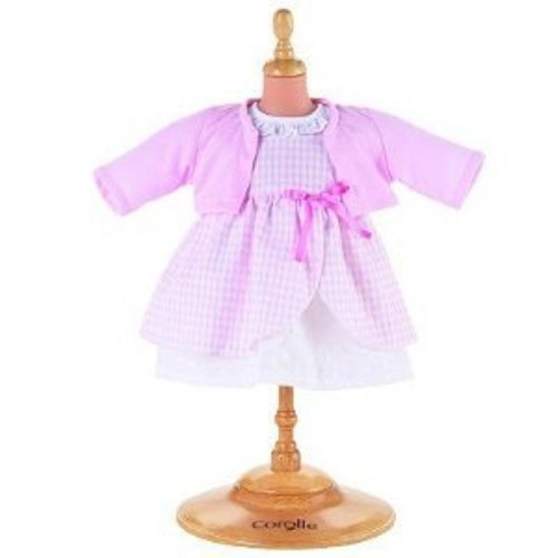 """Corolle Classic 17"""" Baby Doll Fashions (Pink Dress Set) by"""