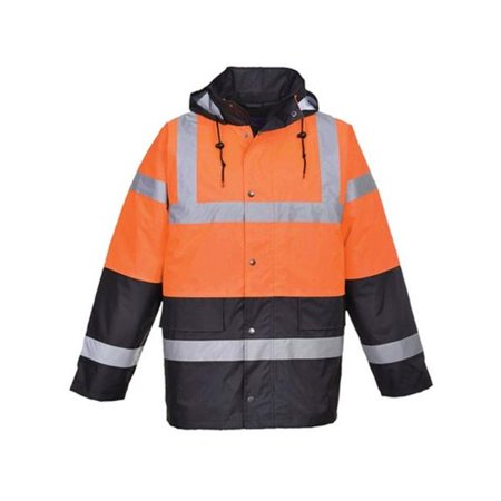 Portwest US467 Medium Hi-Visibility Contrast Traffic Jacket, Orange & Navy - Regular - image 1 of 1