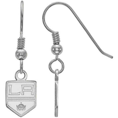 LogoArt NHL Los Angeles Kings Sterling Silver Extra Small Dangle Earrings