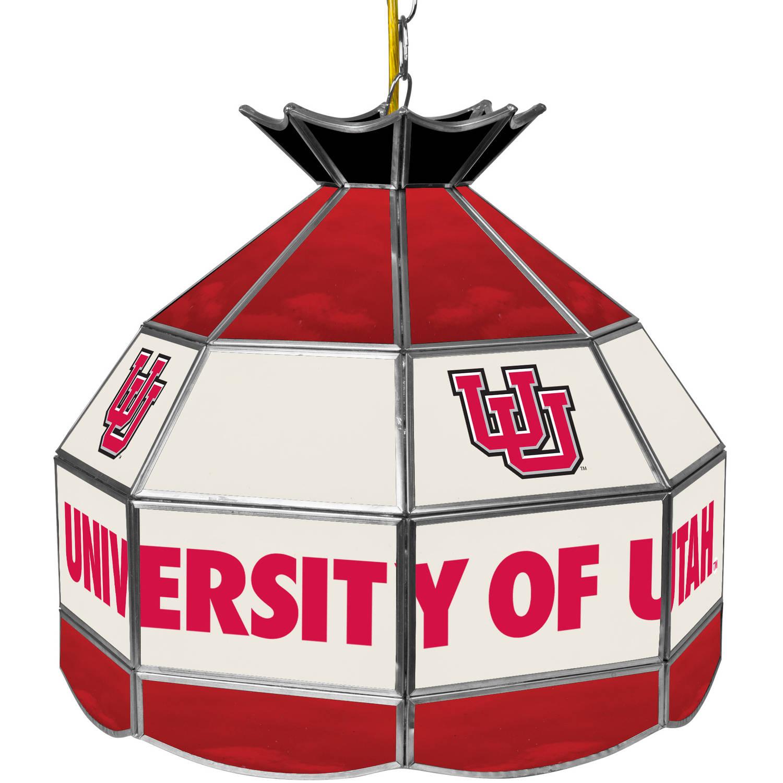 "Trademark Global University of Utah 16"" Stained Glass Tiffany Lamp Light Fixture"