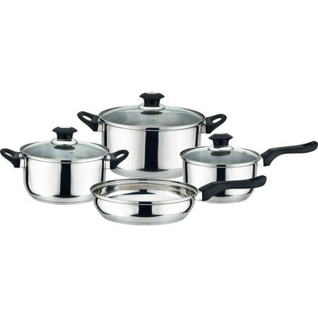 Kitchen Sense Stainless Steel Cookware 7 Piece Starter Set 20 Piece Starter Set
